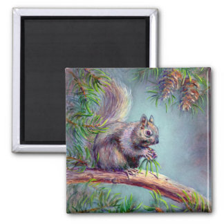BUSY SQUIRREL by SHARON SHARPE Magnet
