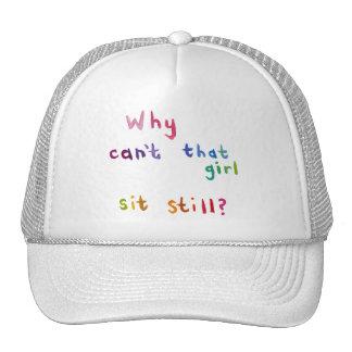 Busy women active girls can't sit still fun art trucker hat