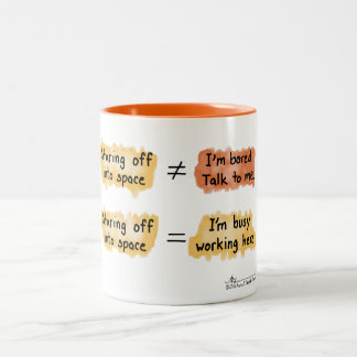 Busy Working Orange Two-Tone Mug