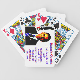 But Despite All Our Differences - Barack Obama Bicycle Playing Cards