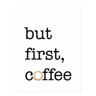 But First Coffee - Inspirational Card Postcard