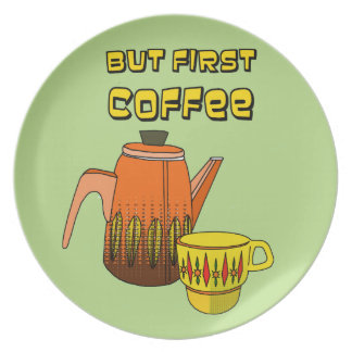 But First Coffee Plate