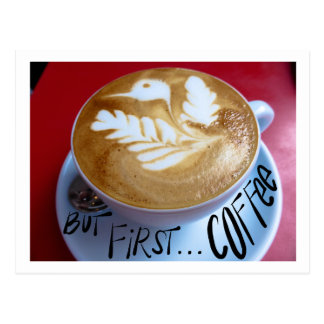 But first ... coffee postcard