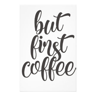But First Coffee Stationery