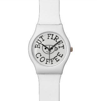 But First Coffee White Watch