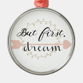 But first, Dream Silver-Colored Round Ornament