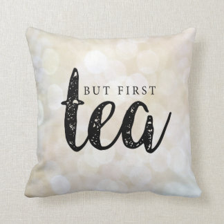 But first, tea in Gold Throw Pillow