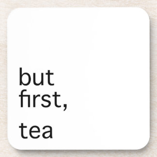 But first, tea typography drink coaster