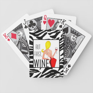 """But First, Wine!"" DIVA Playing Cards"