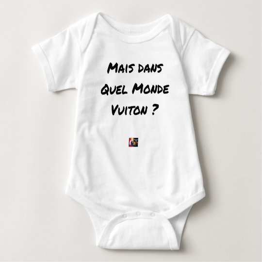 BUT IN WHICH WORLD VUITON? - Word games Baby Bodysuit