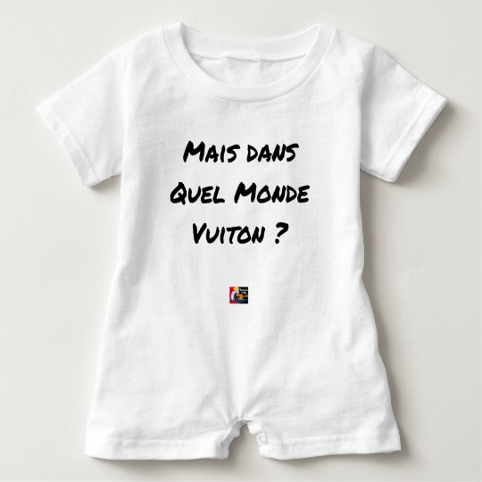 BUT IN WHICH WORLD VUITON? - Word games Baby Romper