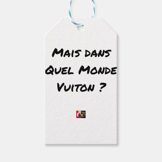 BUT IN WHICH WORLD VUITON? - Word games Gift Tags