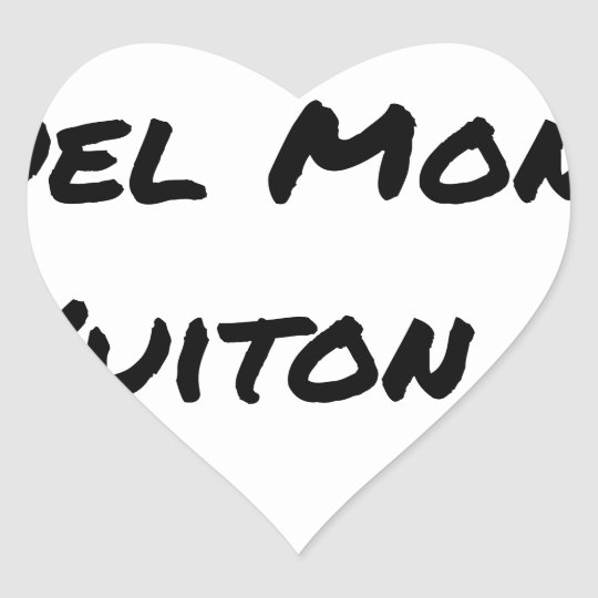 BUT IN WHICH WORLD VUITON? - Word games Heart Sticker