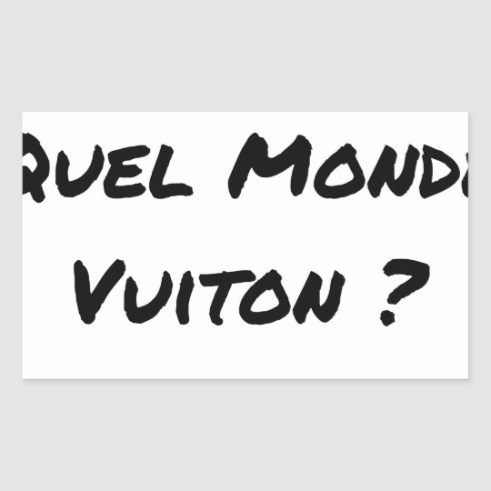 BUT IN WHICH WORLD VUITON? - Word games Sticker
