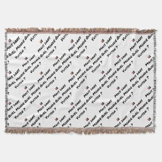 BUT IN WHICH WORLD VUITON? - Word games Throw Blanket