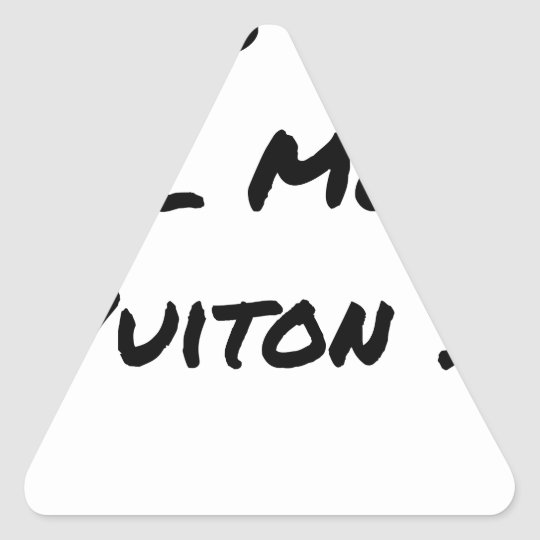 BUT IN WHICH WORLD VUITON? - Word games Triangle Sticker