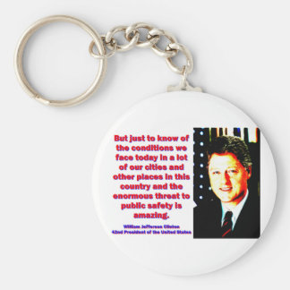 But Just To Know Of The Conditions - Bill Clinton. Keychain