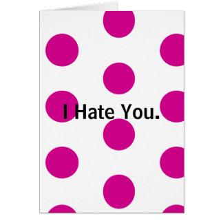 But tell me how you REALLY feel... Polka Dot Card. Card