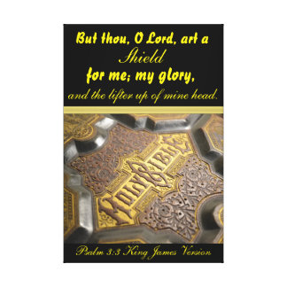 But thou, O Lord, art a shield for me; my glory, a Canvas Print