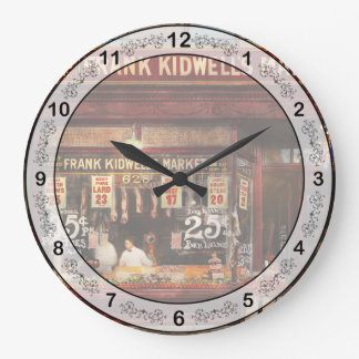 Butcher - Meat priced right 1916 Large Clock