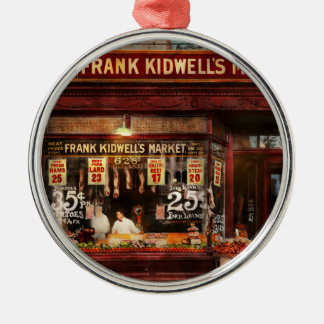 Butcher - Meat priced right 1916 Silver-Colored Round Ornament