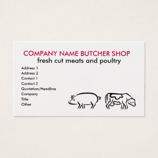 Butcher shop Business Cards