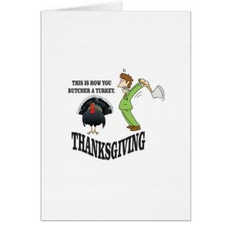 butcher turkey t-day card