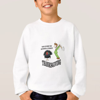 butcher turkey t-day sweatshirt