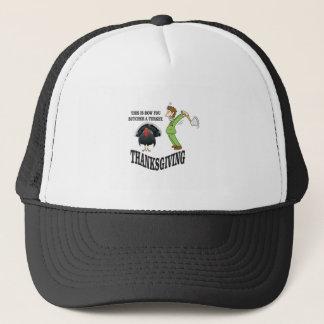 butcher turkey t-day trucker hat
