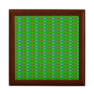 Buterflies on Green Gift Box