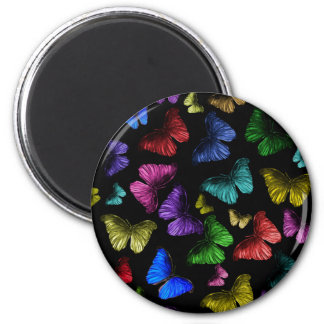 Buterfly Butterfly 2 Inch Round Magnet