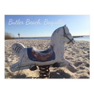 Butler Beach Bayville Playground Horse Bayfront Postcard