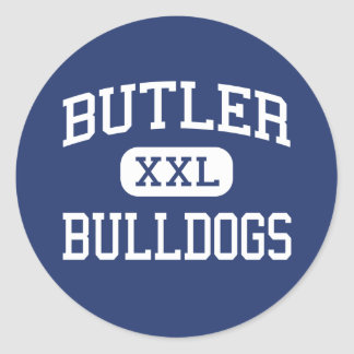 Butler - Bulldogs - High - Butler New Jersey Classic Round Sticker