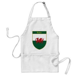 Butler Welsh Flag Shield Apron