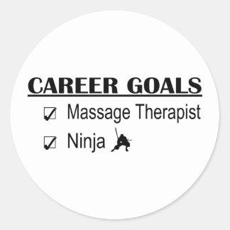 Buts de carrière de Ninja - thérapeute de massage Sticker Rond