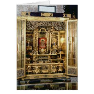 Butsudan shrine from a Damio's palace at Kyoto Card