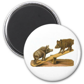 Butt Head Pigs 2 Inch Round Magnet
