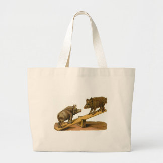 Butt Head Pigs Large Tote Bag