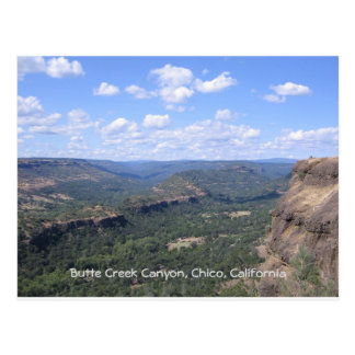 Butte Creek Canyon in Butte County California Postcard