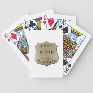 Butte Town Marshal Bicycle Playing Cards