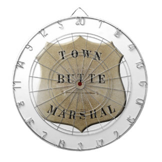 Butte Town Marshal Dartboard