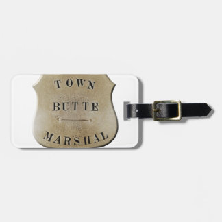 Butte Town Marshal Luggage Tag