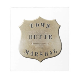 Butte Town Marshal Notepad