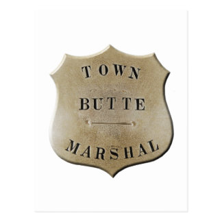Butte Town Marshal Postcard