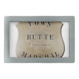 Butte Town Marshal Rectangular Belt Buckles