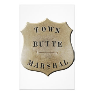 Butte Town Marshal Stationery