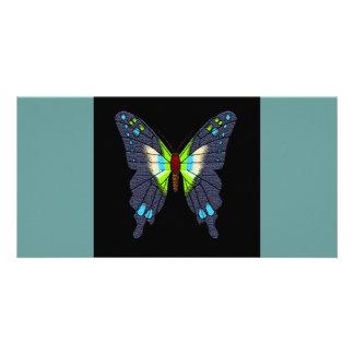 butteflies and moths photo card template