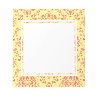 Butter and Cranberry Damask Notepad