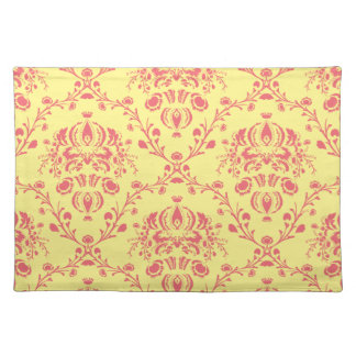 Butter and Cranberry Damask Placemat