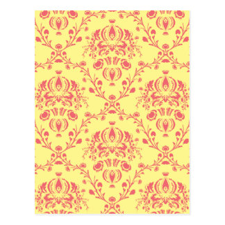 Butter and Cranberry Damask Postcard